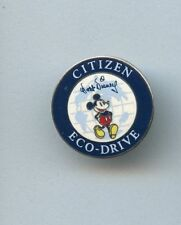 Walt Disney Classic Mickey Mouse over Globe Citizen Watch Eco-Drive Mini GWP Pin