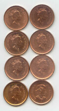 Canada 2000 2001 2002 2003 x2 Pennies Canadian 1 Cent 1c EXACT Set - 8 Coins