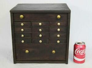 FINE GEORGIAN ANTIQUE WATCHMAKERS CABINET CASE 1800 box tool chest of drawers