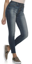 Women's Junior's SO Button-Front High-Rise Stretch Ankle Jegging  Size 17 NWT