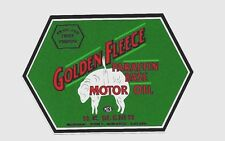 """GOLDEN FLEECE H C SLEIGH OIL"" PROMO STICKER DECAL PETROL GAS SERVICE STATION"