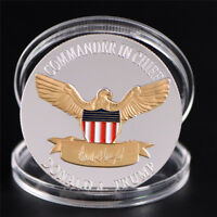 US President Donald Trump 2020 Silver&Gold Plated Challenge Coin Non-currency NI