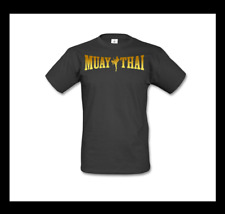 Muay Thai camisa talla L negro oro kickboxing MMA boxeo Fighting Fitness