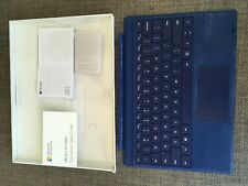 Microsoft surface pro Alcantara signature keyboard used with Trackpad Blue 1725