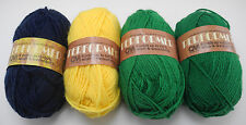 Columbia Minerva Performer Yarn - 4 Skeins Navy Blue, Yellow, Kelly Green