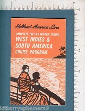 7707 Holland America Line 1961 West Indies cruises, ship Statendam, Rotterdam