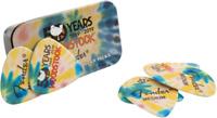 Fender Medium Woodstock Guitar Pick Tin W/ Tie Dyed Picks 50th Anniversary New