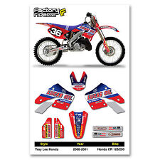 2000 - 2001 TLD HONDA CR 125-250 Dirt Bike Graphics kit Motocross Graphics Decal