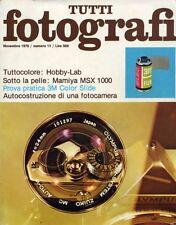 """"""" TUTTI FOTOGRAFI N° 11 del NOVEMBRE 1976 """""""