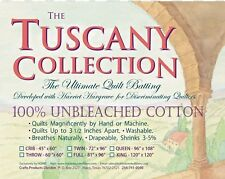 """Hobbs Tuscany Collection 100% Unbleached Cotton Batting Full Size 81""""x 96"""""""