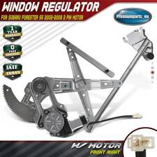 Window Regulator with Motor Front Right for Subaru Forester SG 02-08 2 Pin Motor