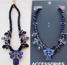Forever 21 BLUE Beads S DIAMANTE SHORT Necklace