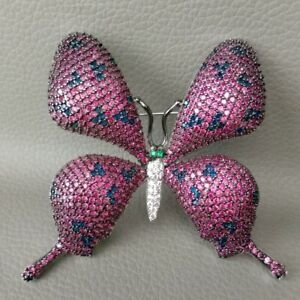 Butterfly Brooch Pin Cubic Zirconia Mixed color Women Jewelry Accessories Pin