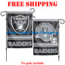 "Oakland Raiders Logo Garden Outdoor Flag Double Sides 12x18"" NFL 2019 Fan NEW"