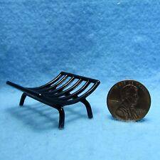 Dollhouse Miniature Fireplace Log Holder - Black ~ A1816