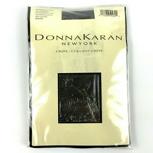 Donna Karan Crepe Opaque Tights Size Tall Mahogany Stretch Style G46 Vtg 90s