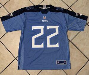 """NFL PRO LINE TENNESSEE """"TITANS"""" DERRICK HENRY #22 AUTHENTIC JERSEY MEN'S SIZE L"""