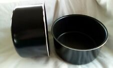 "Two non stick cake tins 7"" X 3.5"""
