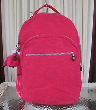 Kipling Seoul Backpack with Laptop Protection Vibrant Pink Large Bag BP3020 NWT