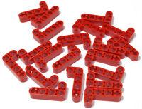 LEGO Technik - 20 x Liftarm 2x4  90 Grad rot dick / 32140 NEUWARE (L14)