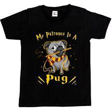 1Tee Niños Niñas Mi Patronus es un Pug Perro Camiseta
