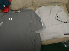 Under Armour Short Sleeve Cage Jacket Coaching Pullover 1/4 gray + jersey shirt
