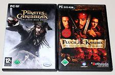 2 PC Jeux Set-Pirates des Caraïbes & Pirates of the Caribbean-Jack Sparrow