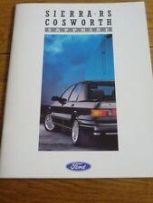 Ford Sierra Rs Cosworth Zafiro Completo folleto de ventas de febrero de 1988