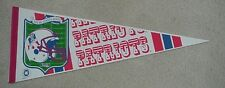 1980's NEW ENGLAND PATRIOTS OLD MINUTEMAN LOGO Full Size Pennant UNSOLD STOCK