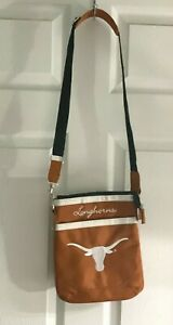 Texas Longhorns Horns NCAA Women's Messenger Bag Purse Microfiber Orange Adjust