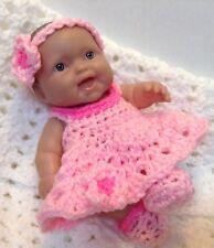 8 inch Doll clothes.Fits Berenguer/ Reborn Dolls. Pink dress set.Handmade