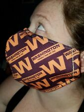 Homemade Fabric Reusable Face Mask washable Washington Football Team SAME DAY