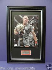 GOERGE ST PIERRE UFC CHAMPION SIGNED FRAMED GSP