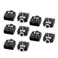 10x 3.5mm Female Stereo Audio Socket Headphone Jack Connector 5 Pin PCB Mount JT