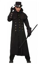 Langer Warlock Herrenmantel mit Stehkragen Gr. M/L Zauberer Mantel Steampunk