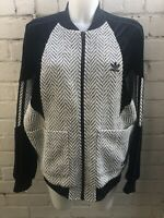 Adidas Women's Originals Track Top Size 14 Velvet Sleeves Ladies Woven Jacket