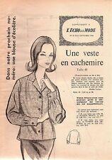 ▬► Patron Couture Écho de la Mode - 1960 N°36 - Taille 46 48 50 - Veste
