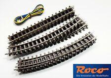 Roco HOe TRACK OVAL /w Feeding Wire 12x32204 & 4x32202 Narrow Gauge for DC