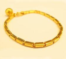 """22k gold handmade BAHT BRACELET from Thailand 7.25"""" #42"""