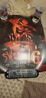 Universal Studios Halloween Horror Nights Sweet 16 Poster Autographed HHN JACK!!