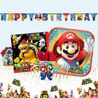 SUPER MARIO - Birthday PARTY RANGE (Tableware, Balloons & Decorations) Amscan
