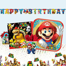 SUPER MARIO - Fiesta Cumpleaños Gama (vajilla, Globos & Decoración) Amscan