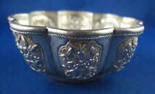 Schale Blumendekor schön gearbeitet Silber geprüft