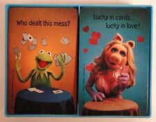 Kermit Frog & Miss Piggy Muppet 1980 Hallmark Hardcase Double Deck Playing Cards