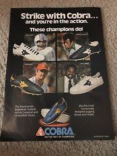 1979 COBRA Running Shoes Poster Print Ad BOB GRIESE CARLOS ALBERTO BRAZIL SOCCER