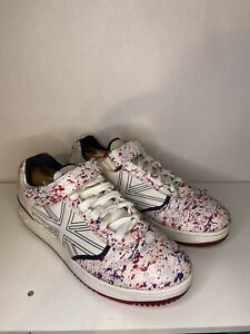 VIntage Reebok NELLY DERRTY ONE UNION JACK SHOES Red White Blue Size 11.5