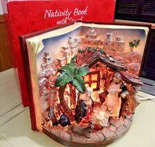 Faith at Home Lighted Nativity Book Glory to GOD in the Highest Faith at Home