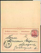 Briefmarken aus der deutschen Post in China als Ganzsache