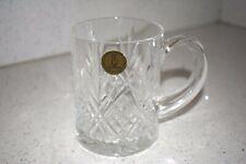 Paul Sebastian Diamond Pattern Clear Cut Crystal Coffee Mug Cup - 1980's