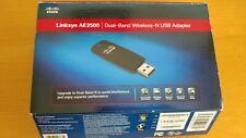 LikeNEW with Box Linksys AE2500 Dual-band Wireless-N Adapter